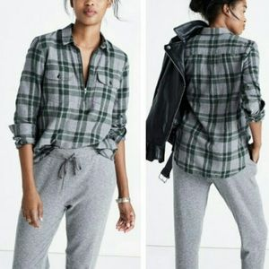 Madewell Zip Up Flannel